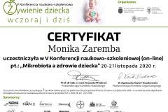 Monika Zaremba - dietetyk dziecięcy - mikrobiota a zdrowie